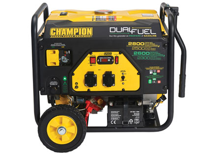 Champion 2800 Watt LPG Dual Fuel Generator With Electric Start