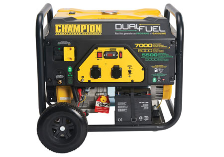 Champion 7000 Watt LPG Dual Fuel Generator With Electric Start