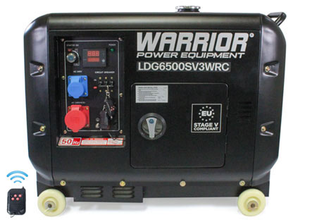 Warrior 6.25 kVa Diesel Generator 3 Phase - Wireless Remote