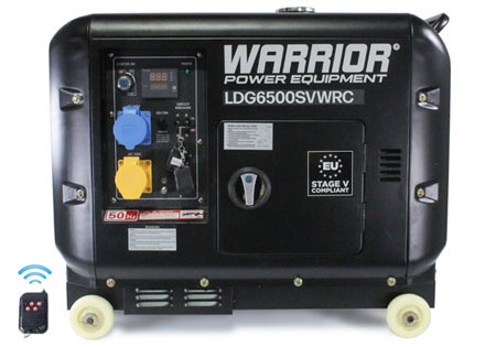 Warrior 6.25 kVa Diesel Generator - Wireless Remote